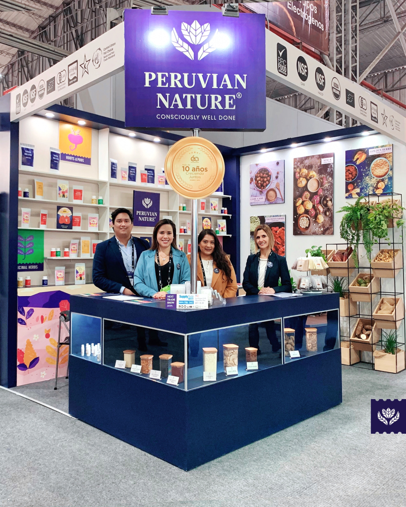 Commercial team of Peruvian Nature at Expoalimentaria 2019